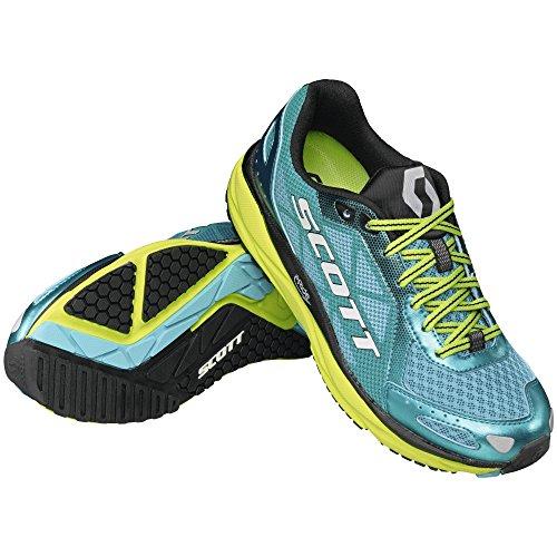 Scott Zapatillas de running para mujer W 'S AF + Trainer Blue/Yellow azul y amarillo Talla:SAMPLE 8.5