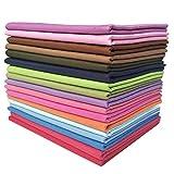 YXJDWEI 17 Stück Baumwollstoff Patchwork Stoffe DIY Gewebe Quadrate 100% Baumwolltuch Stoffpaket zum Nähen 46x56cm Mehrfarbig für Handarbeiten