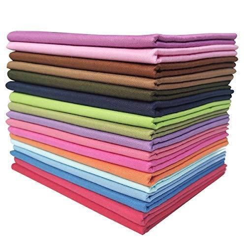 YXJD 17 Stück Baumwollstoff Patchwork Stoffe DIY Gewebe Quadrate 100{51facb8d527f57370f2c519802abf9c373cc50833f5773433601c2a35e0a3bd5} Baumwolltuch Stoffpaket zum Nähen 46x56cm Mehrfarbig für Handarbeiten