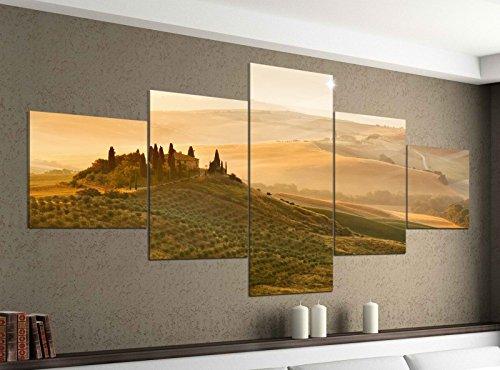 Acrylglasbilder 5 Teilig 200x100cm Landschaft Belvedere Toskana Druck Acrylbild Acryl Acrylglas Bilder Bild 14F254, Acrylgröße 11:Gesamtgröße 200cmx100cm