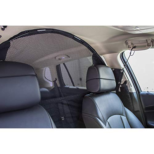 Travelin K9 Pet Net Vehicle Safety Mesh Dog Barrier - 50' W for SUV/Car/Truck/Van - Fits Behind Front Seats