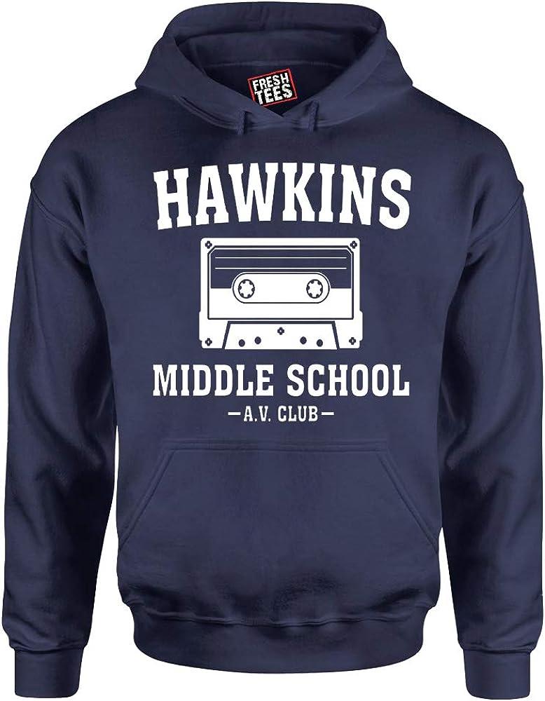 fresh tees Hawkins Middle A.V. Hoodie Popular Very popular brand in the world Club School