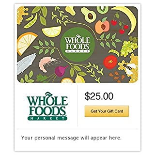 Whole Foods Market Gift Cards - E-mail Delivery (B00MV9P8MS)   Amazon price tracker / tracking, Amazon price history charts, Amazon price watches, Amazon price drop alerts