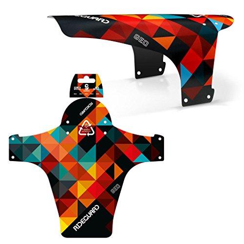 MTB Schutzblech RideGuard PF1 Enduro Guard für Mountainbike, hergestellt in Großbritannien, Orange