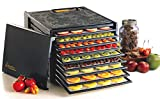 Excalibur 3900B Electric Food with with Adjustable Thermostat Accurate Temperature Control Faster and Efficient Drying Includes Guide to Dehydration Made in USA 9-Tray Black (Renewed)