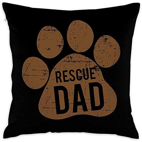 Rettungshund Papa dekorative quadratische Kissenbezüge Bunte Kissen Kissenbezüge