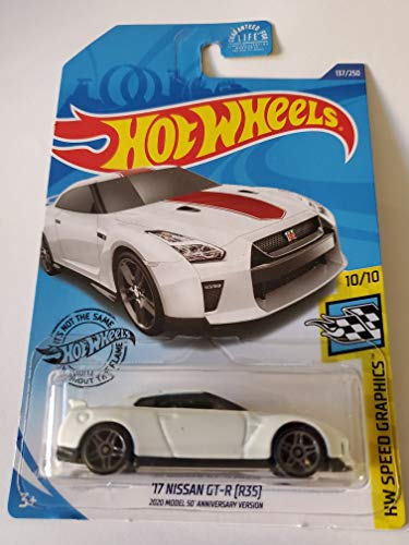 Hot Wheels 2020 Hw Speed Graphics '17 Nissan GT-R [R35], 137/250 White