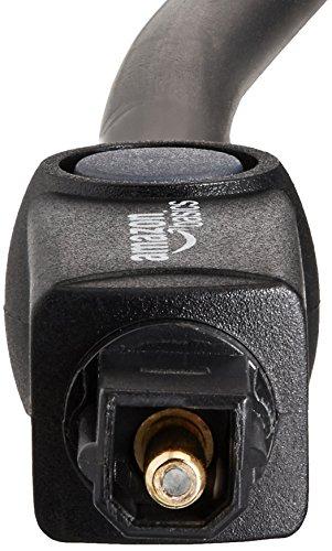 Sony WH-L600 Surround Funkkopfhörer (kabellos, für TV, Sport, Spiele u. Musik, Reichweite bis zu 30 Meter, Cinema Modus) schwarz & Amazon Basics Toslink Optisches Digital-Audiokabel, 1m