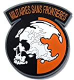 Metal Gear Solid Rising Militaires Sans Frontieres Morale Military Patch 3D PVC Rubber Tactical Rubber Hook Patch