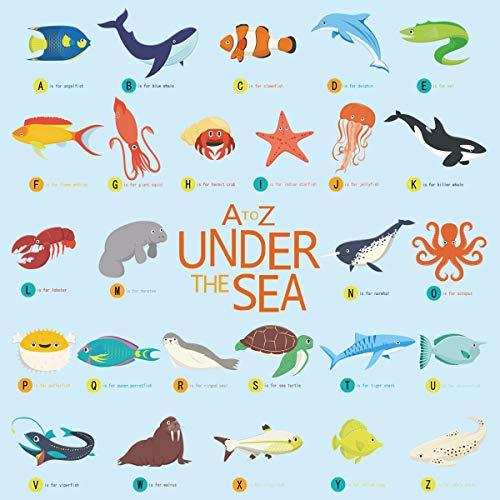 decalmile Pegatinas de Pared Bajo el Mar Vinilos Decorativos Ballenas Delf/ín Pescado Adhesivos Pared para Habitacion Beb/és Guarder/ía Dormitorio