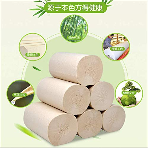 El papel higiénico no es fácil de romper cuando se expone al agua. El papel higiénico del hogar es multicapa y suave. 12 rollos de papel sin núcleo son hipoalergénicos, apto para todas las pieles sin pigmentos