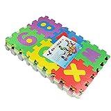 36 piezas de alfombra de puzzle, alfombra de juego de espuma para niños, suave, segura y duradera, antideslizante, resistente al agua, ligera y fácil de limpiar.
