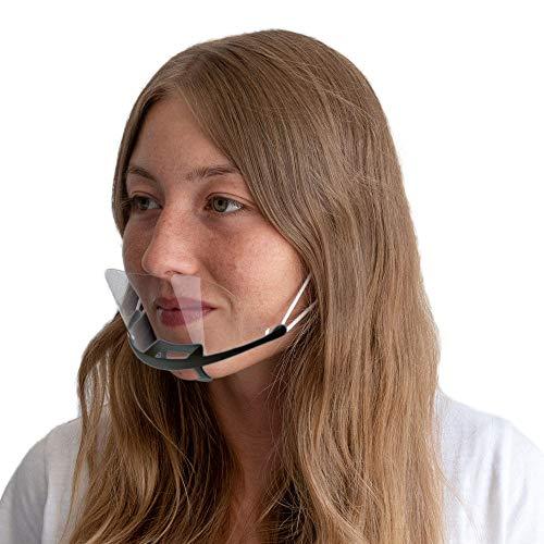 DECADE 10 Stück Schwarz Safety Gesichtsschutzschild Kunststoff Visier Gesichtsschutz Anti-Fog Anti-Öl Transparent Schutzvisier - Hygiene Spezielle Anti-Saliva Gesichtsschutzschirm Black