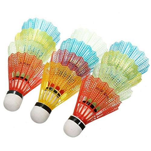 CHDHALTD Pack of 12pcs Colorful Badminton Balls Portable l Badminton Shuttlecock for Sport Training