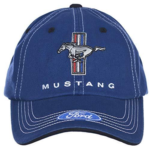 Mustang Laufpferd-Hut, Tri-Bar, Blau und Weiß