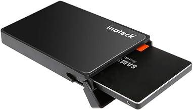 Inateck USB 3.0 Externes festplatten Gehäuse für 9.5mm 7mm 2.5 zoll SATA-I, SATA-II, SATA-III, SATA SSD und HDD mit USB3.0 Kabel , keine zusätzlichen Treiber benötigt, Werkzeuglose - Schwarz