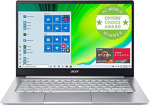 Acer Swift 3 Thin & Light Laptop, 14' Full HD IPS, AMD Ryzen 7 4700U (Beats i7-11370H) 8-Core with Radeon Graphics, 8GB DDR4, 1TB NVMe PCIe SSD, Wi-Fi 6, Backlit KB, Fingerprint Reader