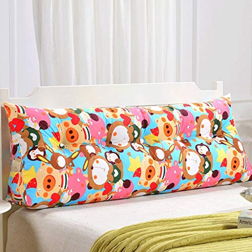 JF-XUAN Volver Doble Sofá Cabecera Soft Pack de Tatami Amortiguador Cama Almohada Lumbar de la Almohadilla de la Cintura (Color: T, Tamaño: 135 cm)