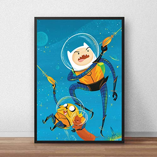 shuimanjinshan Adventure Time Cartoon Poster HD Printing Wall Art Printed Canvas Painting Wall Picture For Baby Nursery Bedroom Decor 40x50cm No Frame P-332