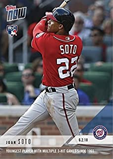 2018 Topps Now Baseball #279 Juan Soto Rookie Card - Only 1,245 made!