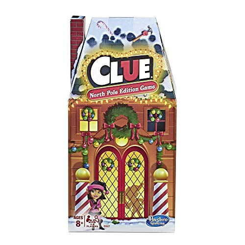 Hasbro Gaming Clue: North Pole Holiday Edition Board Game for Kids Ages 8+