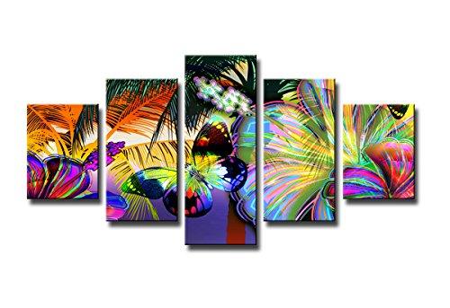 bestpricepictures 160 x 80 cm Bild auf Leinwand Schmetterling 5555-SCT deutsche Marke und Lager - Die Bilder/das Wandbild/der Kunstdruck ist fertig gerahmt