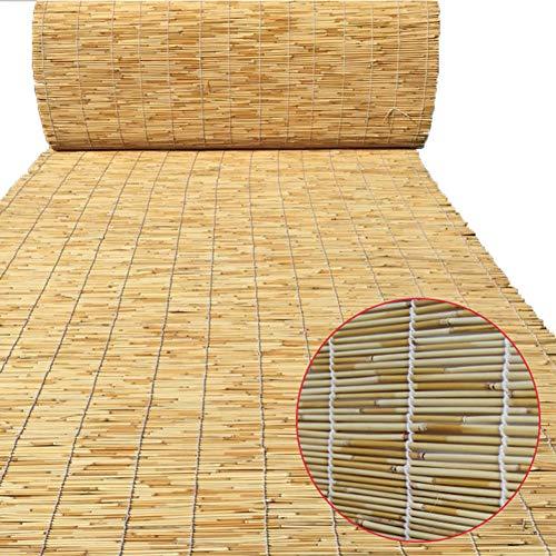 ZQ&QY Natural Persiana De Bambú,caña Impermeable Retro Estor Enrollable De Bambú Divisor De Habitación De Sombrilla Transpirable Rodillo-hasta Shade con Grommets Naturel 120x300cm