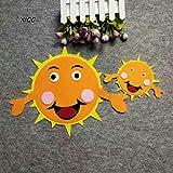 1pc Lächeln Clound Kind-Raum-Wand-Aufkleber Filz
