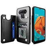 Venoro LG K51 Case, Credit Card Slot Holder PU Leather Card Pockets Shockproof Flip Wallet Protective Cover Case for LG K51/LG Q51/LG Reflect 6.5inch (Black)