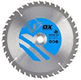 OX Tools OX-TCTW-TF-1901640 OX Hoja de Sierra Circular Fino de Corte de Madera 190/16mm, Dientes, 0 V, Silver/Blue, 40 Teeth ATB