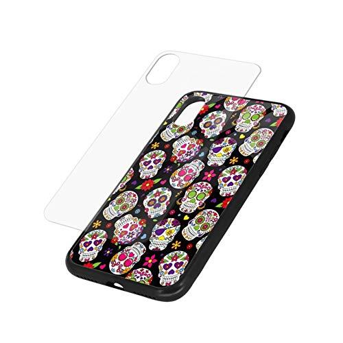 スマートフォン 携帯 ケース 砂糖の頭蓋骨 携帯保護ガラスカバーサポートはリンゴ電話の画面が割れるのを防ぐために 軽 薄 男女に人気 For Iphone Xr 保護カバー