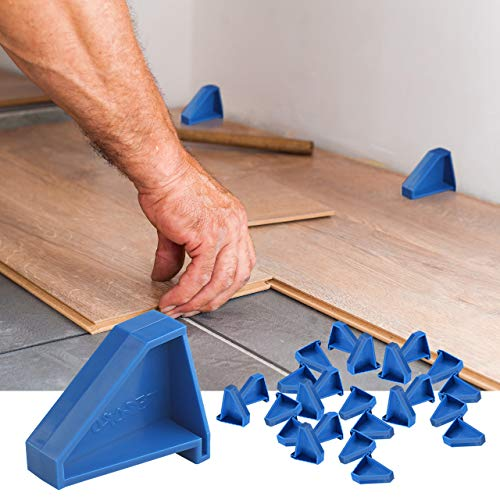 Flooring Spacers,Laminate Wood Flooring Tools(24 Pack),Compatible w/Vinyl Plank, Hardwood & Floating Floor Installation etc,Hardwood Flooring w/1/4 Gap,Special Triangle Stay in Place