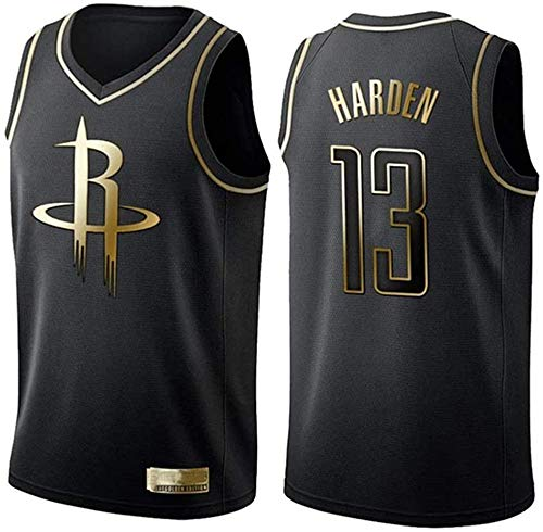 CXJ Hombres Camisetas De La NBA, Houston Rockets # 13 James Harden Jerseys del Baloncesto, Fresco Y Transpirable Tejido Alero del Chaleco Sin Mangas Top,B,L(175~180CM/75~85KG)