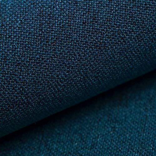 NOVELY® AUEN Premium Möbelstoff | Webstoff | fein gewebter Polsterstoff | Meterware | Bezugsstoff | 1 lfm | 23 Farben (14 Petrol Blau)