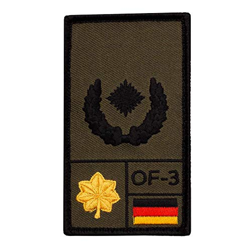 Café Viereck ® Major Bundeswehr Rank Patch mit Dienstgrad - Gestickt mit Klett – 9,8 cm x 5,6 cm