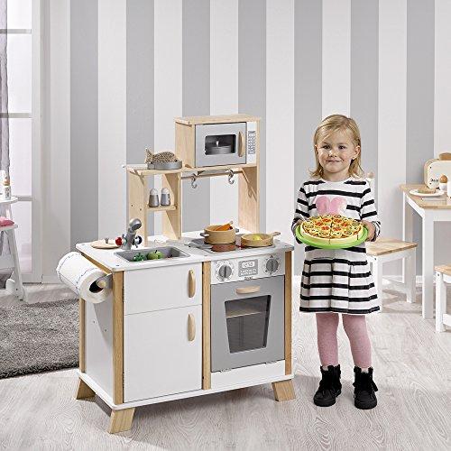 Howa - Cuisine en Bois pour Enfant avec Table de Cuisson LED 4820