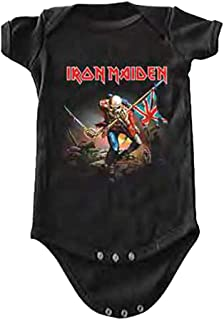 Iron Maiden The Trooper Baby One Peice Bodysuit Romper Black