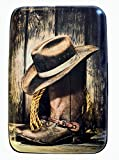 Fig Design Group Cowboy Boots and Hat RFID Secure Theft Protection Credit Card