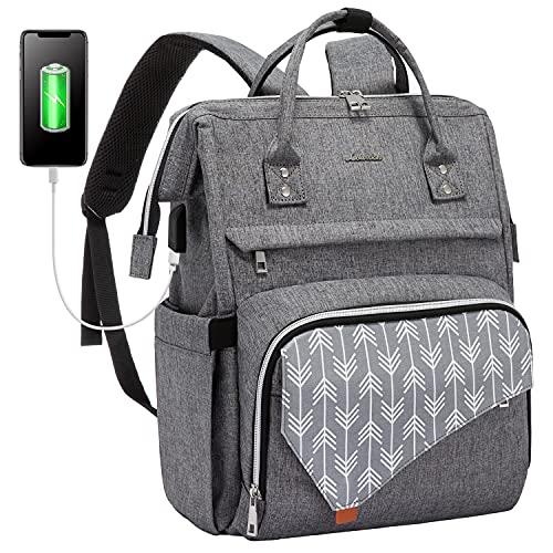 LOVEVOOK Laptop Backpack for Women,17 Inch Work School Travel Bag Computer Bags Teacher Nurse Backpack Purse Bookbag (Upgraded)