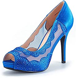 Divine-01 High Heels Royalblue Color Shoes