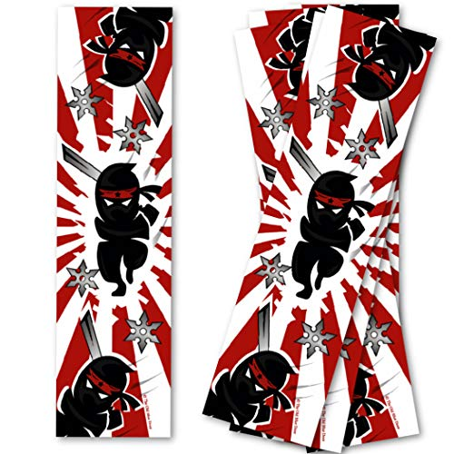 Ninja Samurai Bookmarks for Kids (20 Count) - Ninja Party Favors - Bookmarks for Boys - Library Reading Incentives - School Classroom Treasure Chest Prizes for Students - Teacher Supply Packs