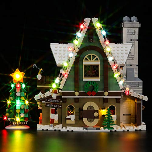 BRIKSMAX Led Lighting Kit für Lego Saisonal Elf Clubhouse, Led Light Set Add-on für Lego Set 10275(Nicht Beinhaltet Lego Model)