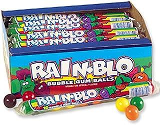 Rain-blo Bubble Gum Balls, 1.7 Ounce Tube, Pack of 24