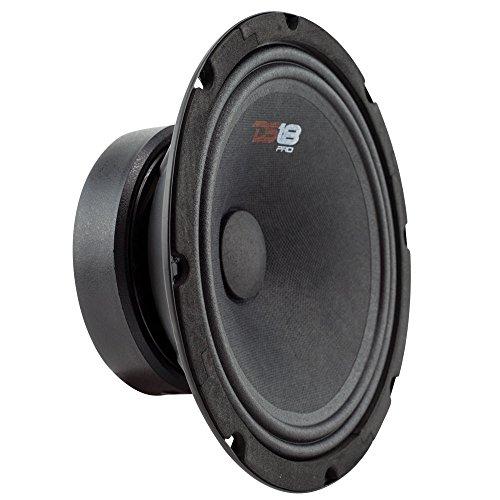 DS18 PRO-GM6SE Loudspeaker - 6.5', Midrange, Sealed Back, 480W Max, 140W RMS, 8 Ohms - Premium Quality Audio Door Speakers for Car or Truck Stereo Sound System (1 Speaker)