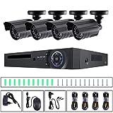 Sistema de cámara de seguridad de vigilancia de monitor infrarrojo casero a prueba de agua DVR Set