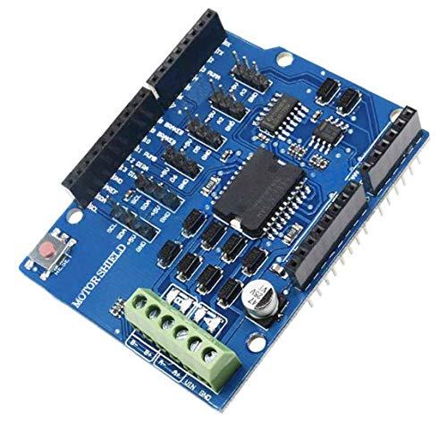 linjunddd Módulo Controlador R3 Motor Tarjeta De Expansión Azul L298p Escudo Puente H 2a para Arduino Uno 2560 Herramientas Industriales