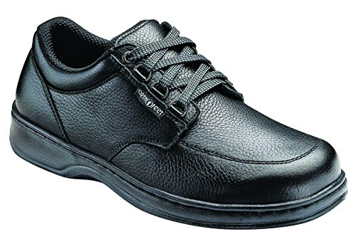 Orthofeet Proven Relief of Foot and Heel Pain. Extended Widths. Best Plantar Fasciitis Orthopedic Diabetic Men's Oxford Shoes