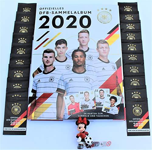 Rewe DFB Sammelalbum 2020 + 20 Tüten + Minnie Maus Fussballfigur von Bullyland - Euro EM