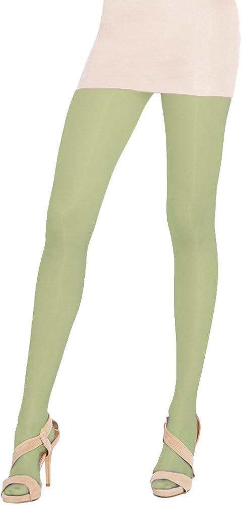 Cecilia de Rafael Sevilla 15 Denier Glossy Shiny Pantyhose Lima (lime Green) 4 LARGE