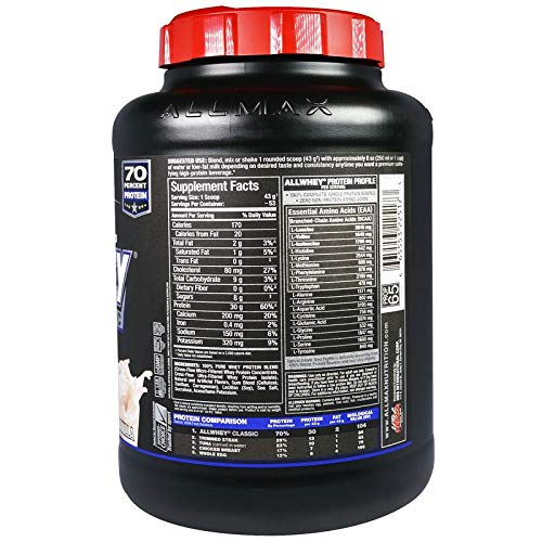 ALLMAX Nutrition オールホエイクラシック100%ホエイプロテイン(フレンチバニラ 2.27 Kg)1 Pack [並行輸入品]